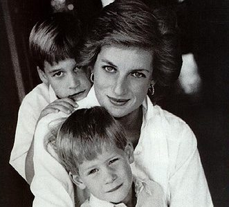 Lady Diana, William, and Harry