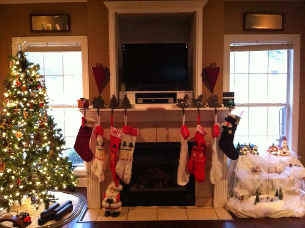 Fireplace with Stockings Hung