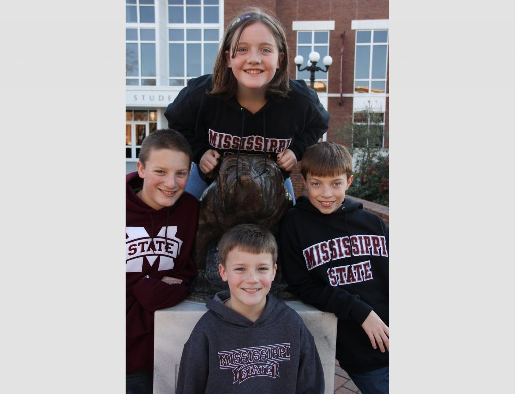 Kids Wearing Mississippi State University Gear
