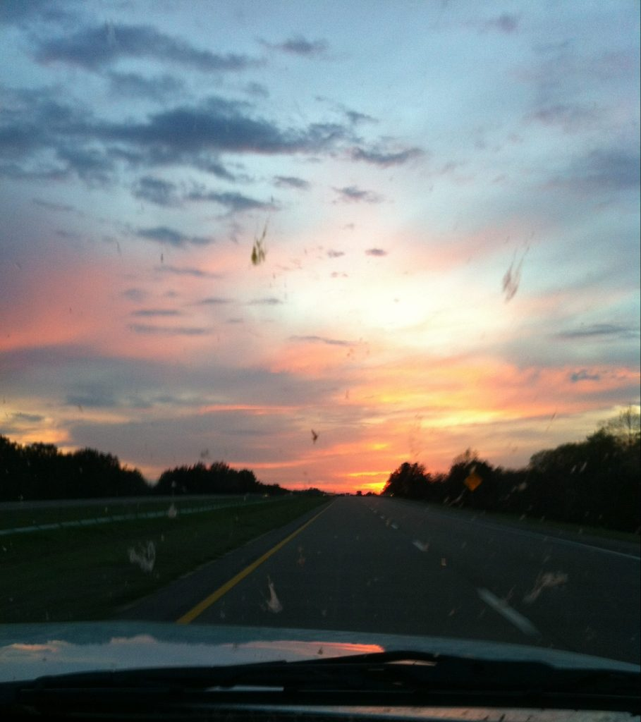 Sunrise Through the Windshield