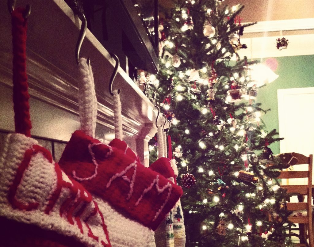 Stockings by the Christmas Tree