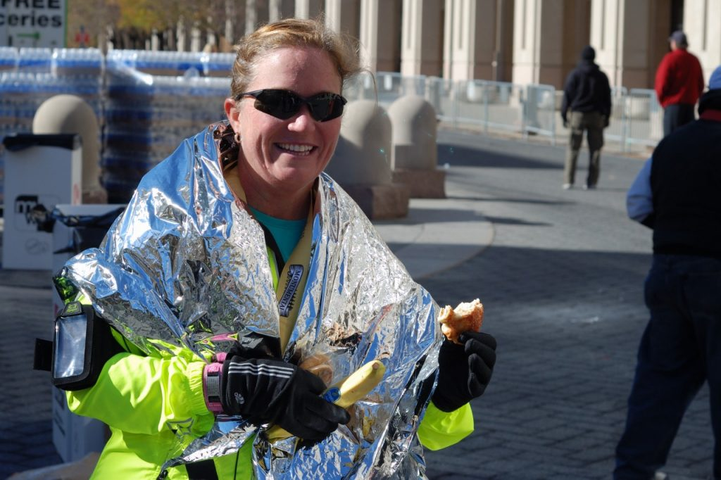 Katrina After Finishing Her Marathon