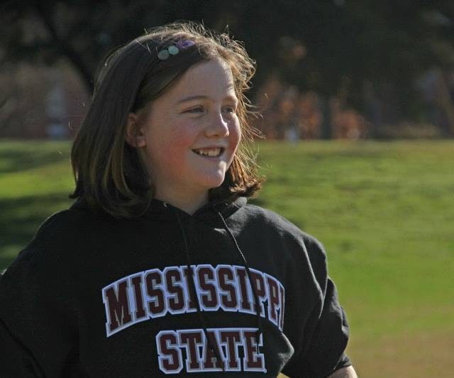 Mary Claire in an MSU Hoodie