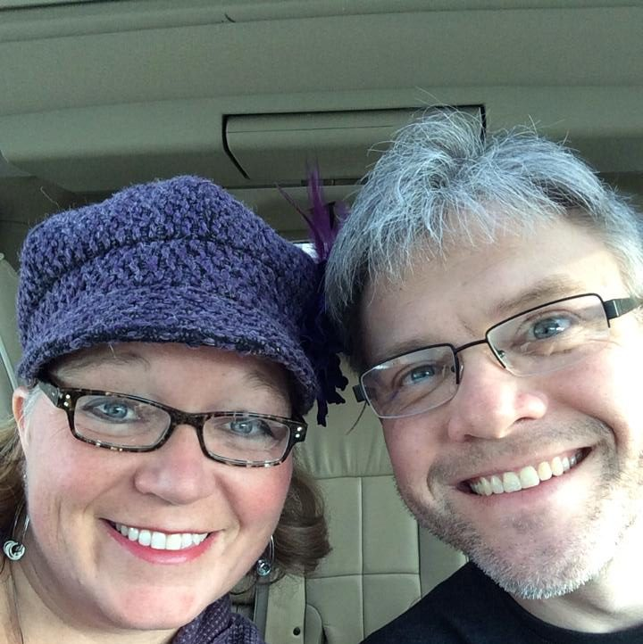 Date Night Selfie with Purple Hat