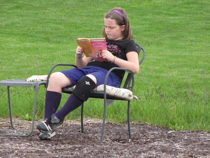 Mary Claire Reading a Book