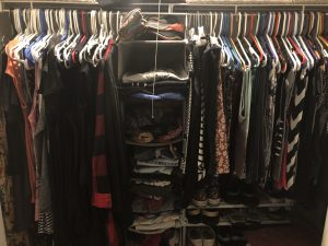 Photo of a closet of clothes