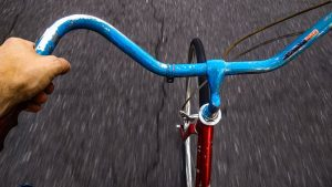 Photo of bicycle handlebars